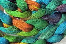 Warp dyeing