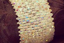 Glass bracelet / Bracelet of czeck beads Ornela Preciosa