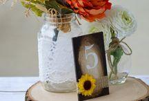 Wedding Farm Table Decor