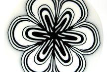 Polymère noir et blanc