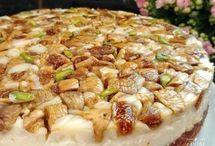 İncirli kremali pasta