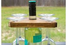 Wine Crafts and Repurposed / #wine bottles, glasses and corks