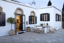 Villa Thia #Tinos #Greece #Island / Villa Thia is a traditional house of 90 m2 located in the picturesque village of Berdemiaros, a listed traditional 17th century village with a magnificent view to the Aegean and the islands of Mykonos, Delos and Syros. http://www.mygreek-villa.com/fr/rent-villa-search-2/villa-thia