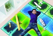 Dekoratif Jel Karo / Kalın camın arasında renkli sıvıların eklenmesiyle çocuklar için eğlenceli yer döşemeleri.