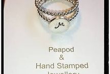 Hand stamped jewellery sterling silver