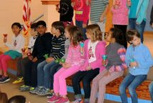 "Third Grade Hand Bell Performance / Our third grade students performed their rendition of ""The Little Drummer Boy"" using hand bells during Tuesday morning's Lower School Assembly.  Congratulations to the students on a job well done!"