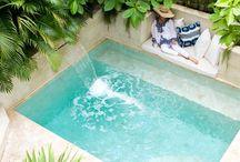 hot tub/garden