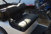 Custom Golf Carts Seats by Mike Gaskins, Mathews, VA / Custom Golf Cart Seats