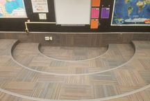 School Makeovers / Summertime is the time for updating the old floors in our local schools!