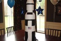 Callums rocket cake ideas