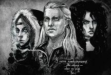 Wiedźmińska rodzinka - Geralt, Yennefer, Ciri