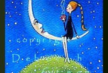 ART*MOON / ILLUSTRAZIONI DESIGN ARTE FIGURE CON LA LUNA...