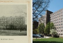 Then and Now Around Campus