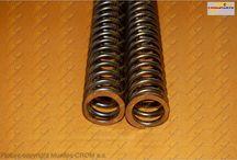 FORK SPRINGS - MUELLES DE HORQUILLA / Front fork springs - Muelles para horquilla delantera de moto DUCATI - HONDA - YAMAHA - SUZUKI - KAWASAKI - BMW - MV AUGUSTA - APRILIA - TRIUMPH - GAS GAS - KTM