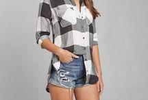 Shirts, shorts and dresses