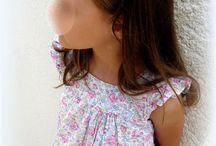 COUTURE POUR FILLES / Mes créations couture pour mes filles, pour montrer ma passion  et les barrettes anti-glisse assorties.