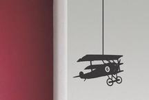 Stickers avion et interrupteurs décorés Hommage à Amelia Earhart