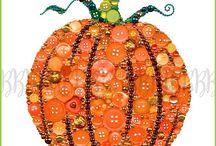 pumpkin button quilt