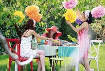 Sweet Table avec Pompons en soie
