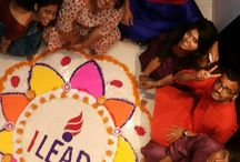 Glimpses of the Employee Rangoli making competition