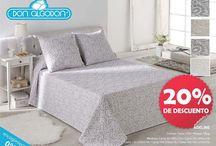 REBAJAS DON ALGODÓN / ¿Estás pensando en cambiar las colchas de tu casa? Aprovecha los descuentos del -20% de Don Algodón para ropa de cama.