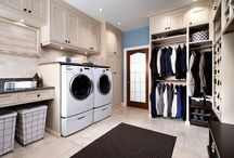 Laundry room and master closet