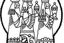 Tři králové - omalovánky