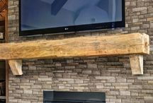 stone feature wall living room