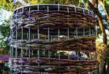 Sharon Bartle / Sharon Bartle always loved weaving – right back from when Sharon was a 5 year old, weaving willow into bangles and halos. Now Sharon have progressed to creating baskets, bowls, and other forms with more of a sculptural aesthetic – having collected the fibres herself, from bush and garden.