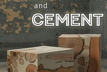 Cement and wood
