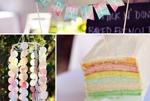 Watercolor baby shower