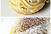 Italian Cream Custard Puffs.