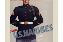 Old, vintage and new army posters