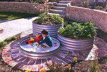 Garden decor / Fences, paths, bird baths, outdoor living