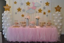 twinkle twinkle little star pink and gold party
