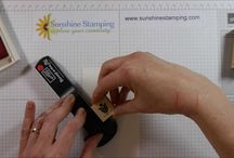 Sunshine Stamping Videos / Tutorial and demonstration videos recorded by Becki Ritson for Sunshine Stamping