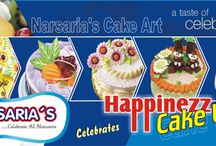 Happinezz Cake Utsav / Happinezz Cake Utsav it is an exclusive live show event organized by Narsaria's every year. Through this event Narsaria's professional staff teaches the procedure of cake making and the cake decoration to their customers. At each counter their professional staff teaches the different style and varieties of cakes, which include with or without eggs. You will also get cake decoration ideas for different and special occasion.