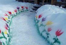 Maling på snø