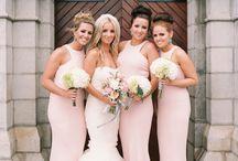 Bridesmaids & Feminine: Blush and Pink / Blush and pink dresses for your bridesmaids.  #wedding #bridesmaid #bridesmaiddress #blushbridesmaiddress #pinkbridesmaiddress #fuschiabridesmaiddress #rosequartz #pantonerosequartz #rosequartzbridesmaiddress
