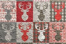 Stags head quilt