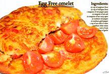 Egg Free Omelet For Lunch! / Egg Free Omelet (Organic Ingredients)!