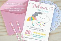 Chuva de Amor / Convites, lembranças, decoração, papelaria e muita inspiração para sua festa de aniversário ou chá de bebê com tema Chuva de Amor ♥ ♥ ♥