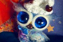 Войлочные Броши-Совушки .brooch owl . / Коллекция сов