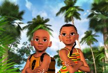 Books featuring black children / Books featuring black children and teaching African history.