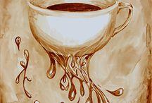 kávéval festés