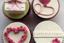 Cupcake decorating with fondant