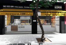 La Salsa / Casa de comidas situada en Benimaclet, Valencia, con muchos años de experiencia en el mercado. Diseño realizado por MSE Project