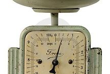 Antique/Vintage Scales / Antique and Vintage scales that are functional and beautifully decorative.