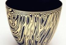 Handraised Bowls, Vessels and Objects / Handraised metalsmithing bowls, vessels and objects. Also called Shibori in Japanese. Carefully selected, where there are mokume gane, silver, copper and other materials.