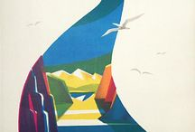 Norway vintage travel posters